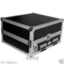 New Dj Mixer Rack Combo Amp Rack 2 10 Space Slant Flight Case Slide Laptop Shelf