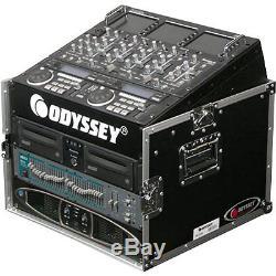 New Odyssey FR1006 Amp/Mixer Combo Flight DJ Case With 10U/6U Rack Spaces