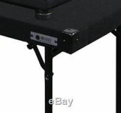 ODYSSEY CTBC2060 Carpeted Portable Pro DJ Work Table with Adjustable Folding Legs