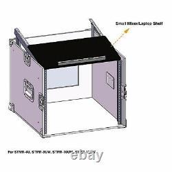 OPEN BOXSound Town 12U DJ Rack Case 12U Slant Mixer Top, Casters STMR-S12UW-R