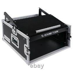 OPEN BOXSound Town 4U Rack Case with 11U Slant Mixer Top 20'' Depth (STMR-4US-R)