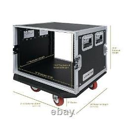 OPEN BOXSound Town 8U Rack Case withh17 Depth Plywood Metal Corners (STRC-8UW-R)