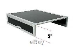 OSP 10 Space Mixer/Amp Rackmount Portable PA Karaoke Flight Road Case 12u MixTop