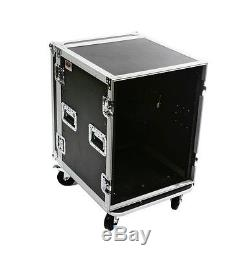 OSP 14 Space 20 Deep Amp ATA Flight Rack Road Case withCaster Wheels