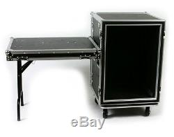 OSP 16 Space 20 Deep ATA Shock Mount Amp Rack Road Case withLid Table SC16U-20SL