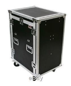 OSP 16 Space ATA Mixer Amp Rack Road Case 12U Top Fits Presonus 16.4.2 mixer