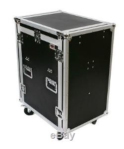 OSP 16 Space Amp & 10 SpaceTop Mixer DJ AV System Rack Road Case 2 Lid Tables