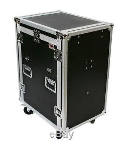 OSP 16 Space Mixer Amp Rack Mount Road Tour Case for Presonus 16.4.2 withLid Table