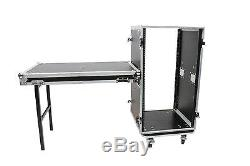 OSP 20 Space 20 deep Amp ATA Rack Road Case withLid Table