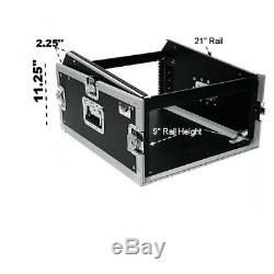 OSP 4 Space ATA Mixer Amp Rack Road Case /Top Mixer Mount Fits Presonus 16.4.2
