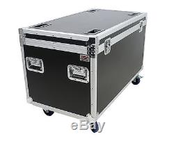 OSP 45 Truck Pack Cable Trunk Utility Road Case withHard Rubber Lined & Wheels