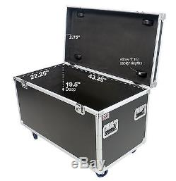 OSP 45 Trunk Transport Utility ATA Road Case with Hard Rubber Lined