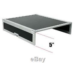 OSP 8-Space ATA Mixer Rack Road Tour Flight Case 12-Space Depth MC12U-8