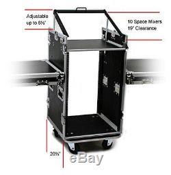 OSP PRO19 16 Space ATA Mixer/Amp Rack & Shelfs