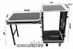 OSP RC16U-20SL 16 Space ATA Amp Rack withCasters and Attached Utility Table