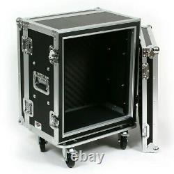 OSP SC12U-12 12 Space ATA Road Case Shock Rack Effects Rack withCasters