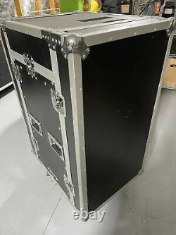 Odyssey 16U PA FZ1116W Rack/Road Case with 11U Slant Mixer Top + Rack Shelf