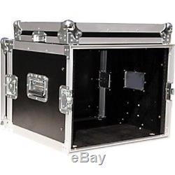Odyssey 8U Rack Case Amp Rack, Road / Flight Case Black NEW