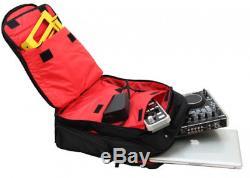 Odyssey BRLBACKSPIN2 New Gig Bag Redline Series Padded DJ Digital Gear Backpack