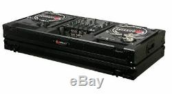 Odyssey Black Label FZBM12WBL Turntable Battle Coffin withWheels-12 Inch DJ Mixer