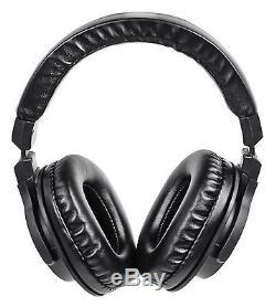 Odyssey Black Label FZBM12WBL Turntable Battle Coffin withWheels + Headphones