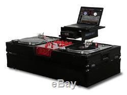 Odyssey Black Label Glide Style Dj Coffin For 10 Mixer & 2 Tts In Battle Mode