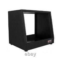 Odyssey CRS08 8 Space Carpeted DJ Music Studio Equipment Rack Unit Case, Black