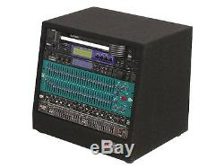 Odyssey Cases CRS08 New Carpeted 8U Studio Slant Rack With 12 Top & 16 Bottom