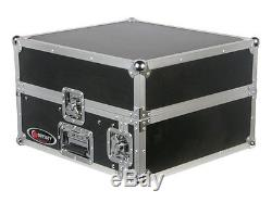Odyssey Cases FR1002 New Flight Ready Mixer Combo Rack DJ Case 2 Space Vertical