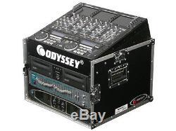 Odyssey Cases FR1006 New Flight Road Mixer Combo Rack DJ Case 6 Space Vertical