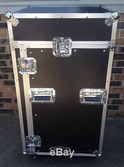 Odyssey Cases FR1016W Flight Road Combo Rack Case Vertical With Wheels