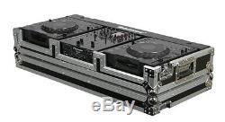 Odyssey Cases FR10CDJWE New Flight Ready DJ 2 Large Format Cd & 10 Mixer Case