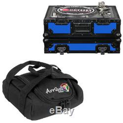 Odyssey Cases FR1200BKBLUE Fr Designer DJ Technics 1200 Blue On Black Arriba Bag