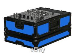 Odyssey Cases FR12MIXBKBLUE New Designer DJ Series Mixer Case Blue On Black