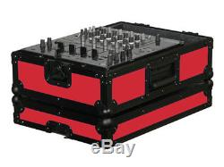 Odyssey Cases FR12MIXBKRED New Red Designer DJ Series For 12 Inch Mixer Case