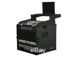 Odyssey Cases FRGS808BL New Black Label Glide Style Combo DJ Flight Case 10 X 8