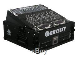 Odyssey Cases FZ1002BL New Black Label Ata Combo DJ Flight Rack Case With 10X 2