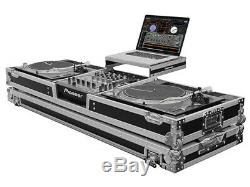 Odyssey Cases FZGSLDJ12W DJ Coffin Battle Flight Case Mixer 2 Turntables Used