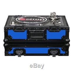 Odyssey Designer Dj Series Case For Technics Style Turntables Fr1200Bkblue NEW