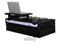 Odyssey FFXGS10CDJWBL Flight FX 2x Large CD +10 Mixer DJ Coffin withLaptop Shelf