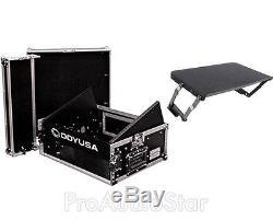 Odyssey FR0802 8U x 2U Slant Top Mixer/DJ Rack Case + 1SKB-AV8 A/V Laptop Shelf
