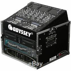 Odyssey FR1006 Flight Ready ATA Top Slanted 6U-10U 6-10 Space Mixer Combo Rack