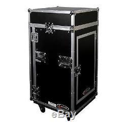 Odyssey FR1016W Flight Ready 10x16 Combo Rack DJ Amp Effects Case With Wheels