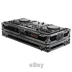 Odyssey FZ10CDJW Flight Zone 10 Mixer Dual CDJ DJ Case With Wheels