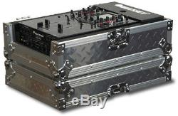 Odyssey FZ10MIXDIA New Flight Zone 10 Inch DJ Mixer Case Silver Diamond Plated