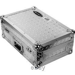 Odyssey FZ10MIXXDDIA Flight Ready 10 DJ Mixer Hard Travel Case Silver Plated