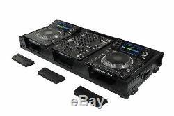 Odyssey FZ12CDJWXDBL All Black 12 Mixer & 2x Media Player Rolling Coffin