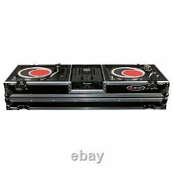 Odyssey FZDJ10W Flight Coffin Case For 10 Format DJ Mixer and Turntables