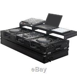 Odyssey FZGSP12CDJWBL Black Label Hard Case for 2 Large CD/DJ Player & 12 Mixer