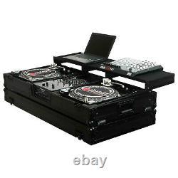 Odyssey FZGSPBM10WBL DJ Flight Case for 10 DJ Mixer and Two Turntables Black